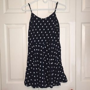 Blue and White Polka Dot Aeropostale Dress Size M